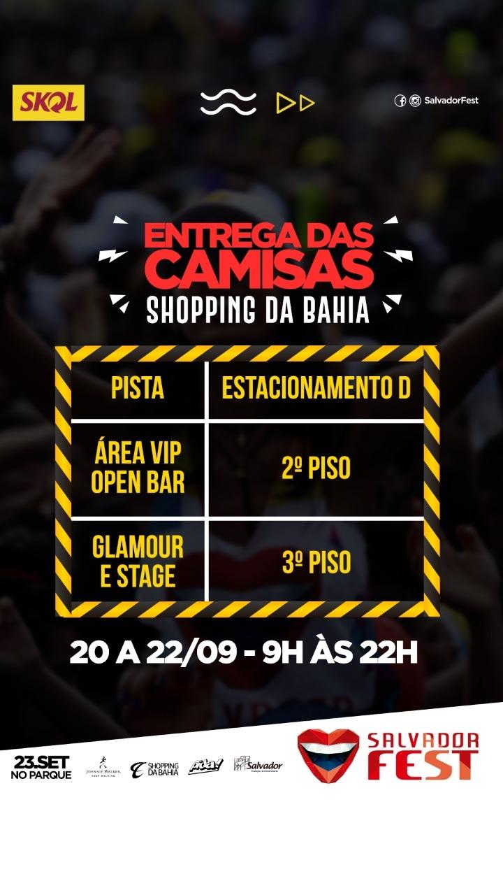 Salvador Fest Divulga Entrega De Camisas A Partir Do Dia 20 Setembro